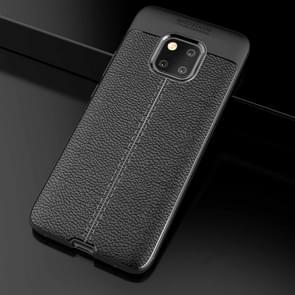Litchi textuur TPU schokbestendig geval voor Huawei mate 20 Pro (zwart)