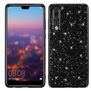 Glitter Powder Shockproof TPU Case for Huawei P30 (Black)