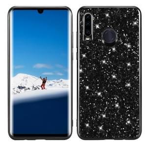 Glitter poeder schokbestendige TPU Case voor Huawei P30 Lite/Nova 4e (zwart)