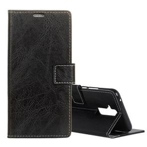 Retro Crazy Horse Texture Horizontal Flip Leather Case for Huawei Mate 20 Lite, with Holder & Card Slots & Photo Frame (Black)