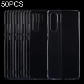 50 stuks 0 75 mm uiterst dunne transparante TPU zacht beschermhoes voor Huawei P30 Pro