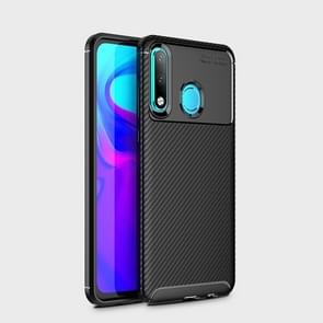 Carbon Fiber Texture Shockproof TPU Case for Huawei P30 Lite (Black)
