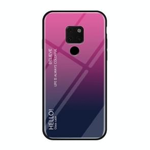 Gradient Color Glass Case for Huawei Mate 20(Magenta)