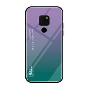 Gradient Color Glass Case for Huawei Mate 20(Purple)