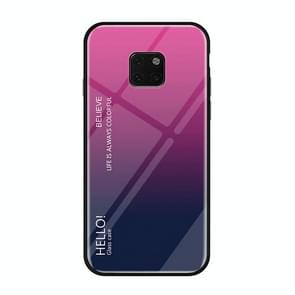 Gradient Color Glass Case for Huawei Mate 20 Pro (Magenta)