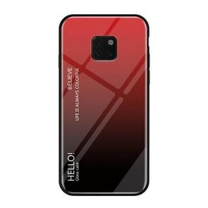 Gradient Color Glass Case for Huawei Mate 20 Pro (Red)