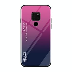 Gradient Color Glass Case for Huawei Mate 20 X (Magenta)