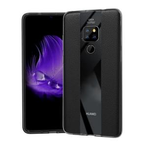 Anti-slip Leather + TPU Protective Case for Huawei Mate 20 (Black)