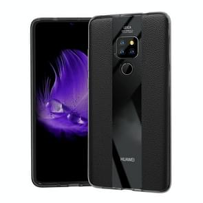 Anti-slip Leather + TPU Protective Case for Huawei Mate 20 X (Black)