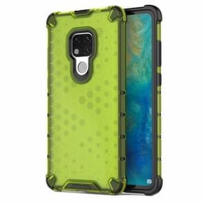 Honingraat schokbestendig PC + TPU Case voor Huawei mate 20 (groen)