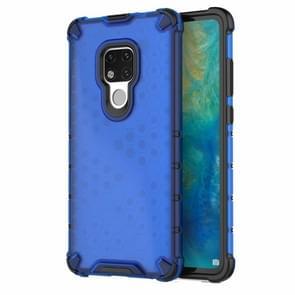 Honingraat schokbestendig PC + TPU Case voor Huawei mate 20 (blauw)