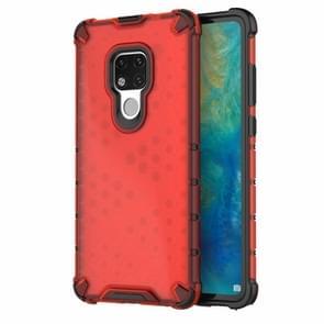 Honingraat schokbestendig PC + TPU Case voor Huawei mate 20 (rood)