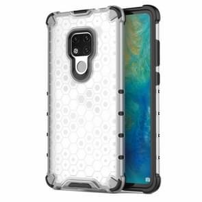 Honingraat schokbestendig PC + TPU Case voor Huawei mate 20 (transparant)