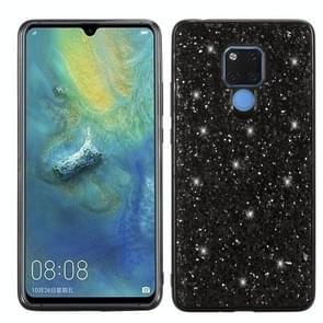 Glittery Powder Shockproof TPU Case for Huawei Mate 20 X (Black)