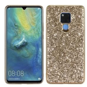 Glittery Powder Shockproof TPU Case for Huawei Mate 20 X (Gold)