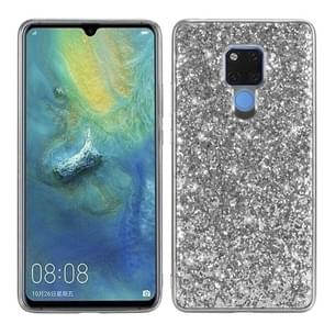 Glittery Powder Shockproof TPU Case for Huawei Mate 20 X (Silver)