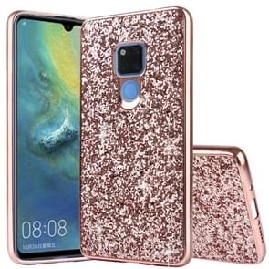 Glittery Powder Shockproof TPU Case for Huawei Mate 20 (Rose Gold)