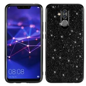 Glittery poeder schokbestendige TPU Case voor Huawei Mate 20 Lite / Maimang 7 (zwart)