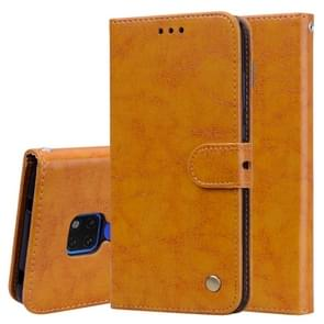 Business Style Oil Wax Texture Horizontal Flip Leather Case for Huawei Mate 20, with Holder & Card Slots & Wallet (Brown)