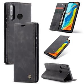 CaseMe-013 Multifunctional Retro Frosted Horizontal Flip Leather Case for Huawei P30 Lite, with Card Slot & Holder & Wallet (Black)
