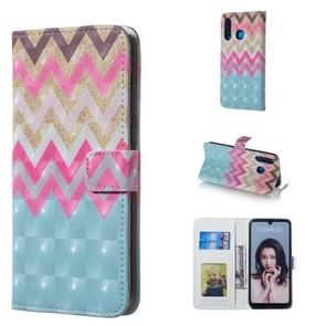 Color Wave 3D Pattern Horizontal Flip Leather Case for Huawei P30 Lite, with Holder & Card Slots & Photo Frame & Wallet