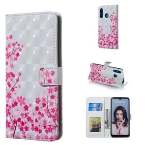 Sakura Pattern 3D Horizontal Flip Leather Case for Huawei P30 Lite, with Holder & Card Slots & Photo Frame & Wallet