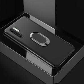 Shockproof TPU Full Protective Case for Huawei P30 Pro, with 360 Degree Rotation Holder (Black)