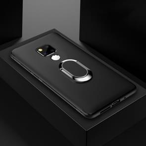 Schokbestendige TPU volledige beschermhoes voor Huawei mate 20  met 360 graden rotatie houder (zwart)