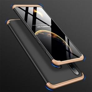 GKK Three Stage Splicing Full Coverage PC Case for Huawei Nova 4e / P30 Lite (Black Gold)