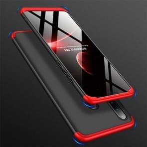 GKK Three Stage Splicing Full Coverage PC Case for Huawei Nova 4e / P30 Lite (Black Red)