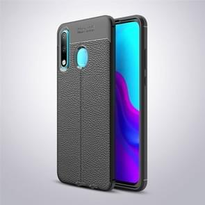Litchi Texture TPU Shockproof Case for Huawei P30 Lite (Black)