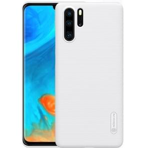 NILLKIN Frosted concaaf-convexe textuur PC behuizing voor Huawei P30 Pro (wit)