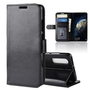 R64 Texture Single Fold Horizontal Flip Leather Case for Huawei P30, with Holder & Card Slots & Wallet (Black)