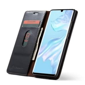 CaseMe-003 Multifunctional Crazy horse Texture Horizontal Flip Leather Case for Huawei P30, with Card Slot & Holder & Wallet(Black)