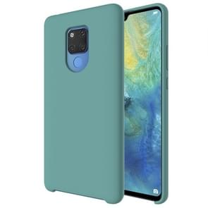 Pure Color Liquid Silicone Case for Huawei Mate 20 X (Green Lake)