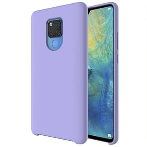 Pure Color Liquid Silicone Case for Huawei Mate 20 X (Purple)