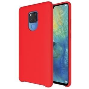 Pure Color Liquid Silicone Case for Huawei Mate 20 X (Red)