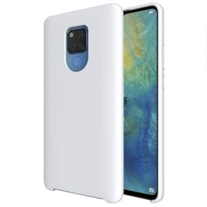 Pure Color Liquid Silicone Case for Huawei Mate 20 X (White)