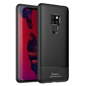 iPAKY Carbon Fiber textuur TPU softcase voor Huawei Mate 20(Black)