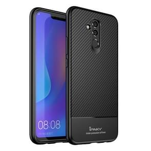 iPAKY Carbon Fiber Texture Soft TPU Case for Huawei Mate 20 Lite(Black)