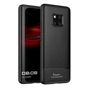 iPAKY Carbon Fiber textuur TPU softcase voor Huawei Mate 20 Pro(Black)