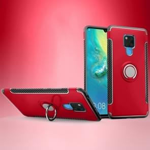 Shockproof Car Magnetic Case with 360 Degree Rotating Armor Ring for Huawei Mate 20 X(Red)