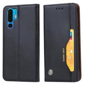 Knead Skin Texture Horizontal Flip Leather Case for Huawei P30 Pro, with Photo Frame & Holder & Card Slots & Wallet (Black)