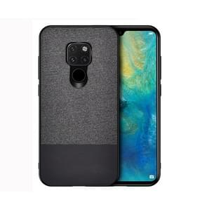 Shockproof Splicing PU + Cloth Protective Case for Huawei Mate 20 (Black)