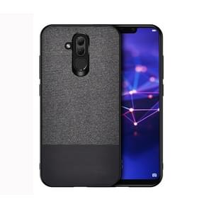 Shockproof Splicing PU + Cloth Protective Case for Huawei Mate 20 Lite (Black)