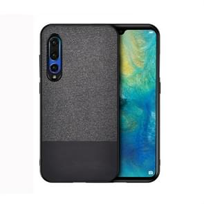 Shockproof Splicing PU + Cloth Protective Case for Huawei P30 (Black)