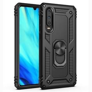 Armor Shockproof TPU + PC Protective Case for Huawei P30, with 360 Degree Rotation Holder (Black)
