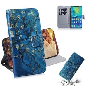 Apricot Flower Pattern Coloured Drawing Horizontal Flip Leather Case for Huawei Mate 20 Pro, with Holder & Card Slots & Wallet