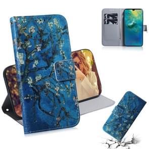 Abrikoos bloem patroon gekleurde tekening horizontale Flip lederen case voor Huawei mate 20  met houder & card slots & portemonnee