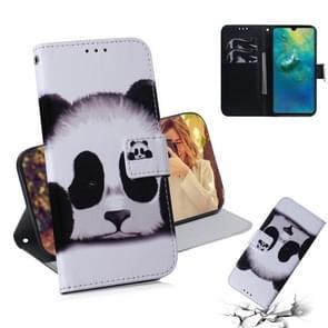 Panda patroon gekleurde tekening horizontale Flip lederen case voor Huawei mate 20  met houder & card slots & portemonnee